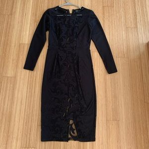 ASOS black dress with see through front size 6